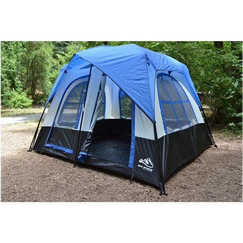 6 Person Cabin Tent by Big River Outdoors 6 Person Mountain Home Tent 420849