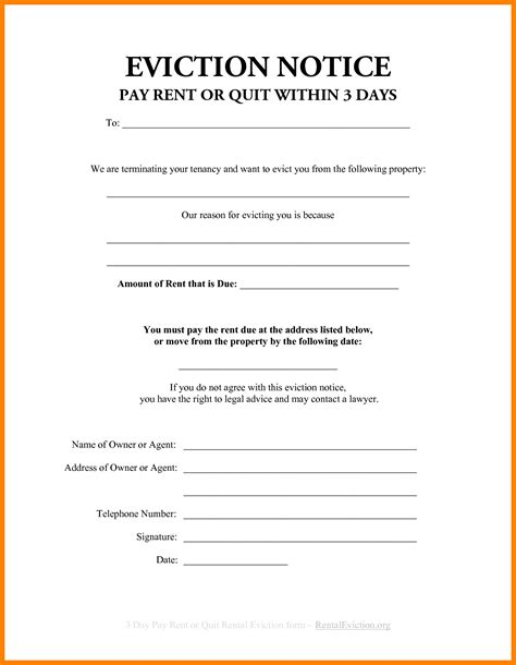 3 Day Eviction Notice Florida Template 5 3 day eviction notice florida aplication format
