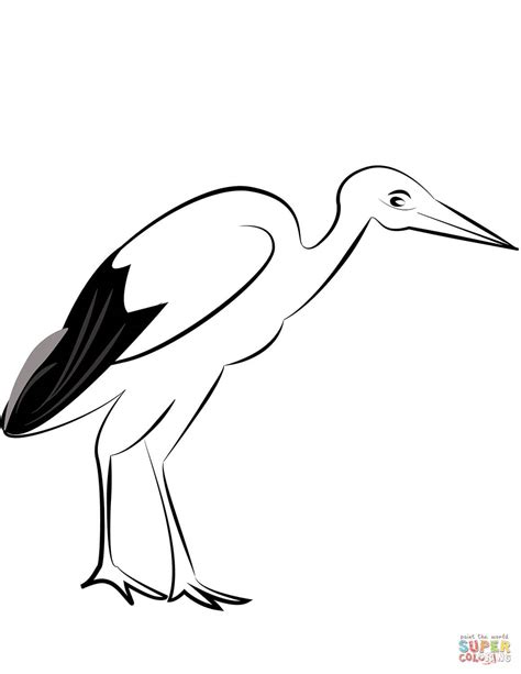 stork baby coloring coloring pages