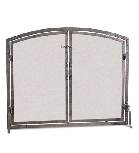 Forged Fireplace Screen by World Forged Iron Arched Door Fireplace Screen