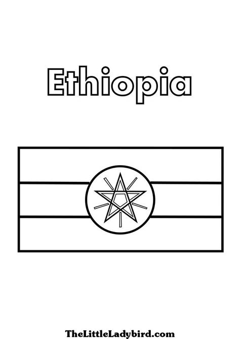 ethiopia flag free colouring pages