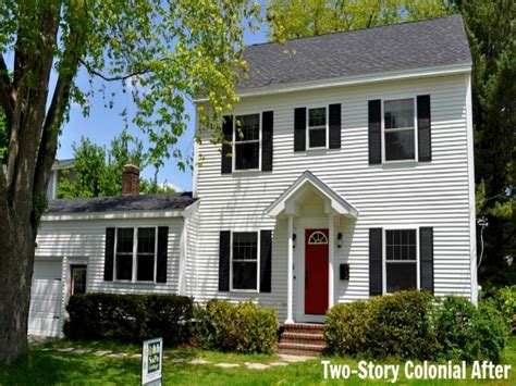 Two Story Colonial House Plans | colonial 3 story house plans small two story colonial