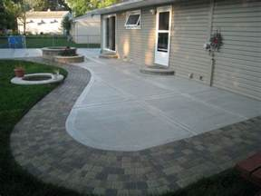 Old Concrete Patio Ideas by Back Yard Concrete Patio Ideas Concrete Patio California
