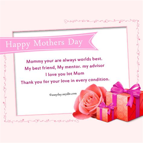 Mothers Day Card Messages mothers day cards messages www imgkid com the image