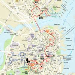 Boston Freedom Trail Map by Living The Bucket List Life 75 Walk The Freedom Trail In