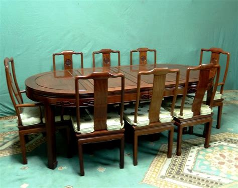 heavy wooden chinese dining room table set table