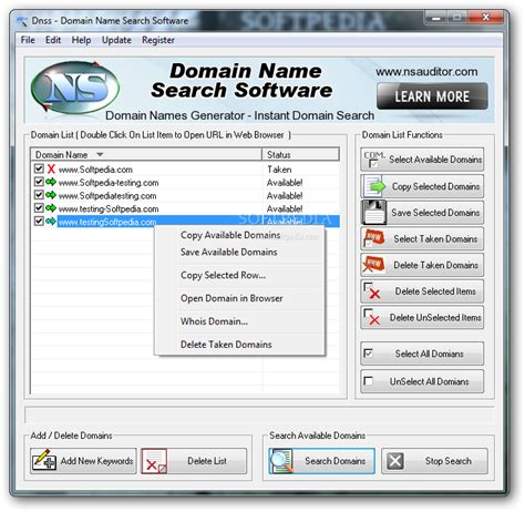 dnss domain  search software