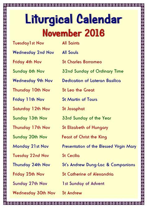 Liturgical Calendar Liturgical Calendar Related Keywords Liturgical Calendar