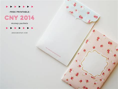 How To Make Printer Paper Feel Like Money - printable shabby chic cny packets design is yay