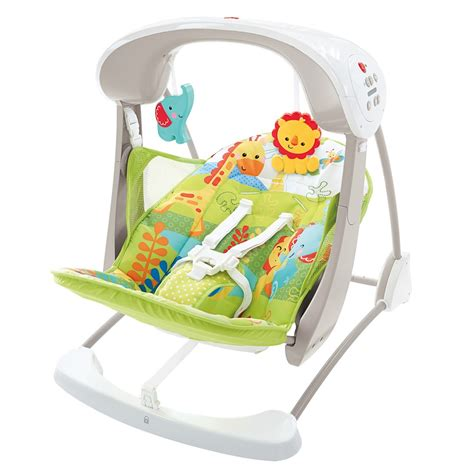 jungle fisher price swing buy fisher price rainforest take along swing seat