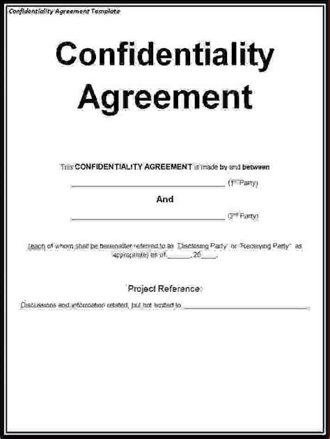 free non disclosure agreement template 5 non disclosure agreement template freereport template