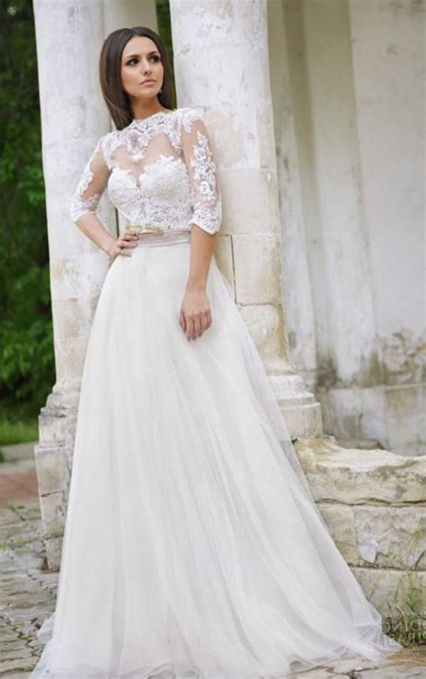 Size 44 Wedding Dresses by Plus Size Sleeve Wedding Dresses Pluslook Eu Collection