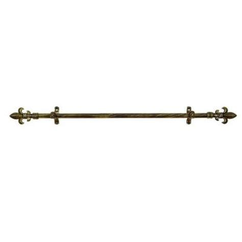 fleur de lis curtain rods metallo fleur de lis telescoping curtain rod kit