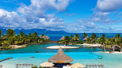 landscape nature tropical resort tahiti french