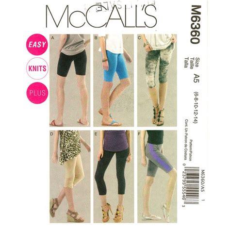 yoga leggings sewing pattern womens leggings pattern mccalls 6360 bike shorts fitness