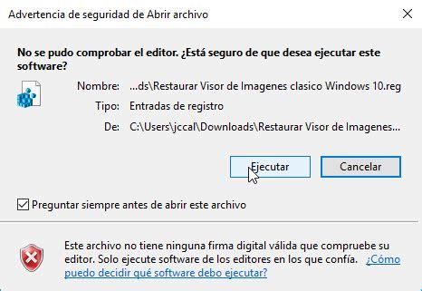 recuperar visor de imagenes windows 10 como recuperar el visor de fotos cl 225 sico en windows 10