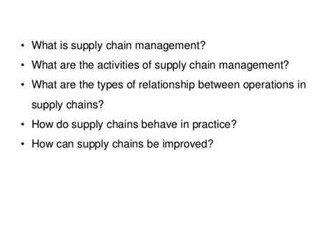 Mba In Operations And Supply Chain Management In India by Pgbm03 Mba Operation Management Session 08 Supply Chain