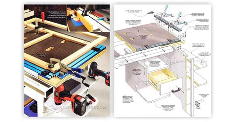 table saw workstation plans woodarchivist