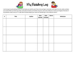 reading log with summary template reading log with summary template search results