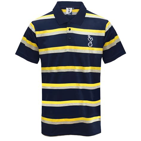 Tshirt Kaos Tottenham Casual White tottenham hotspur fc official football gift mens striped