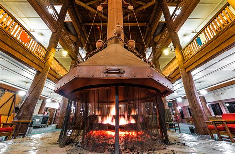 National Fireplace by Many Glacier Hotel Review Travel Caffeine