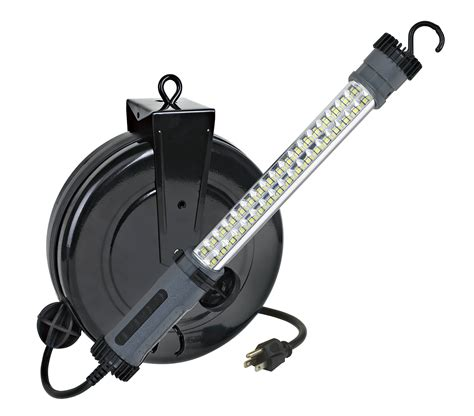retractable led work light auto repair work light led 30 foot retractable cord reel