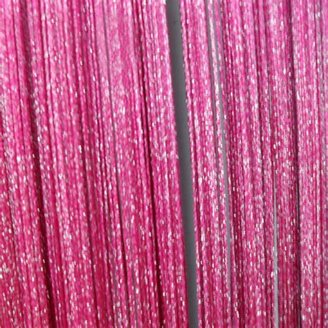 fushia curtains fuschia string curtain panel