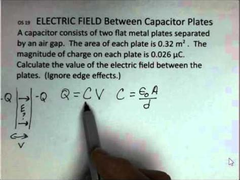 if the electric field between the plates of a given capacitor is weakened electric field between the plates of a capacitor