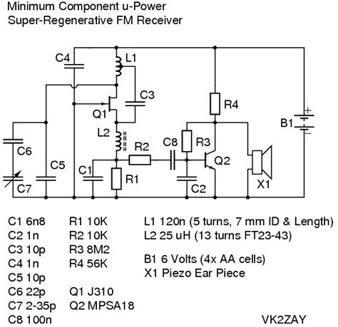 single transistor fm radio transmitter fm receiver circuit diagram using transistor fm broadcast receiver fm receiver circuit