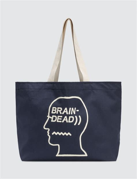 Indonesia Tote Bag buy original brain dead logo tote bag at indonesia bobobobo