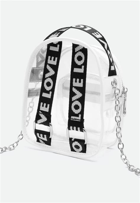 Transparent Backpack Style Cross Body Bag