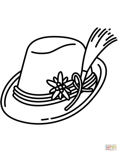 German Hat Coloring Page | bavarian hat coloring page free printable coloring pages