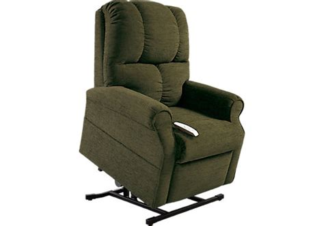 recliner chair with lift baytown hunter lift chair recliner recliners green
