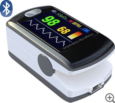 Wifi O2 cms 50e fingertip pulse oximeter blood oxygen monitor alarm bluetooth