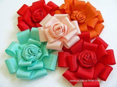 How To Make Flowers Out Of Paper Ribbon - 17 best images about flower tutorials on