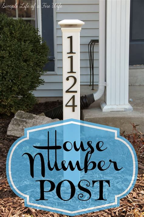 l post address sign simple life of a fire wife house number post