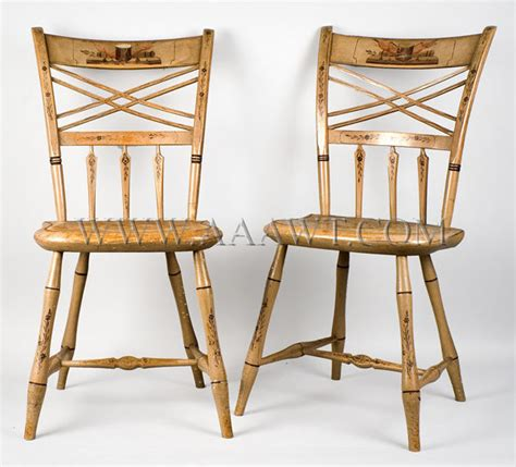 antique furniturebenches highly painted chairs