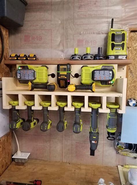 garage wall tool drill caddy ryobi   garage