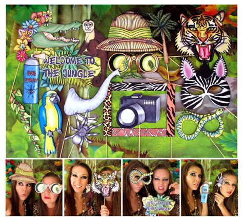 animal print photo booth props google search wild jungle explorer photo booth props perfect for your safari or
