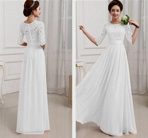 White Maxi Dresses With Sleeves Naf Dresses