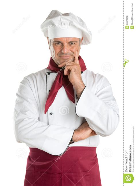 satisfied professional chef royalty free stock photos image 26326718