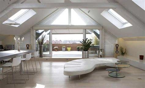 buro woonkamer dakappartement inrichting met groot dakterras interieur
