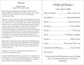 programs for memorial services sles free printable funeral programs click on a