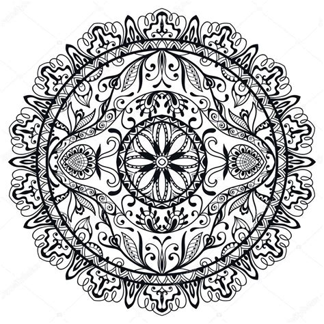 easy tribal pattern black and white black and white mandala tribal ethnic ornament vector