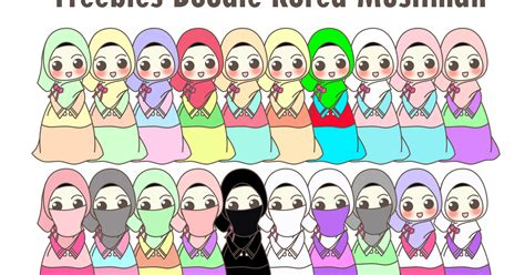freebies doodle for header wadah madrasah pengalaman 20 freebies doodle korea muslimah