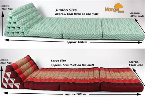 triangle bed pillow jumbo size thai triangle pillow fold out mattress cushion