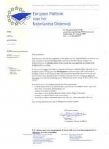 Business Letter Format Netherlands Invitation Letter To Attend Workshop Keynote Speaker
