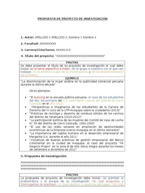 libro una propuesta sospechosa modelo de propuesta de proyecto de investigacion ejemplo doc