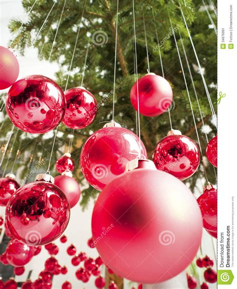 hanging christmas baubles stock image image 34676991