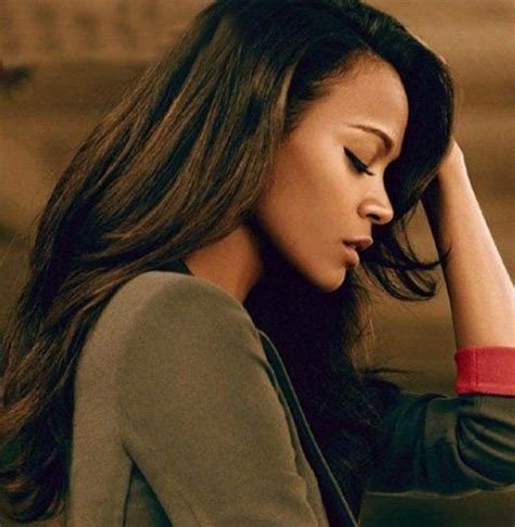 Zoe Saldana Hairstyles by Zoe Saldana Hairstyles Haircut With Side Parted